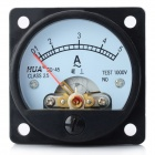 20400 Analogue 5A Current Panel Meter Ammeter - Black