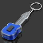 Violin Style Keychain w/ Colorful LED Flashing Light - Random Color (3 x AG13)
