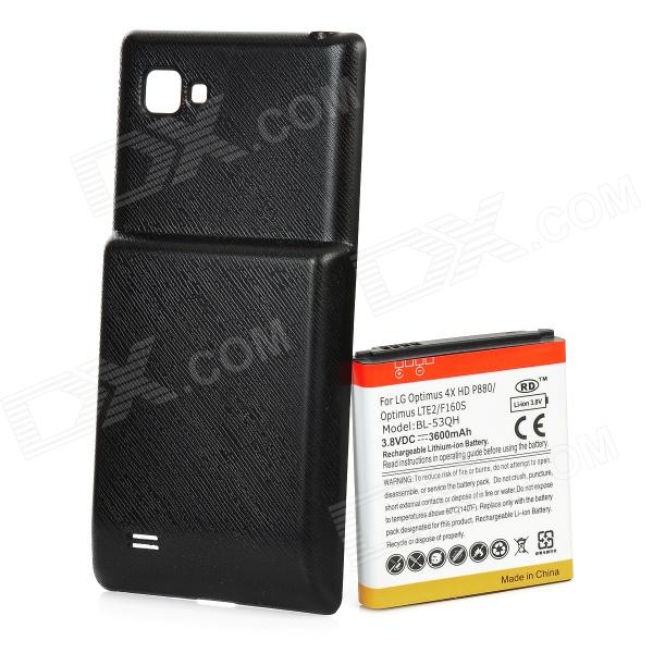 Replacement 3.7V 3600mAh Extended Battery w/ Battery Cover Case for LG 4X P880 велотренажер dfc pt 02mb