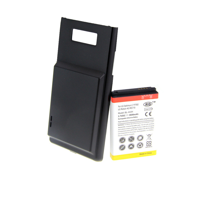 Replacement 3.7V 3600mAh Extended Battery w/ Battery Cover Case for LG Optimus L7 P700 тонер cactus cs ph7500y