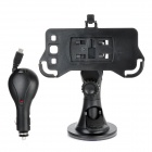 Car Swivel Mount Holder + Car Charger for Samsung Galaxy S3 i9300 - Black