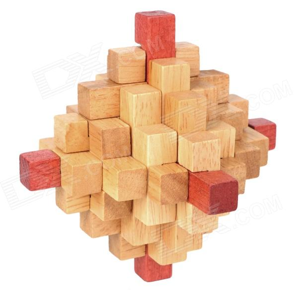 Traditional Chinese Toys Wooden KongMing Magic Lock Puzzle