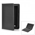 Wireless Bluetooth V3.0 Keyboard w/ Folding PU Leather Case for Google (ASUS) Nexus 7 - Black
