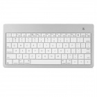 Mini Wireless Bluetooth V3.0 78-Key Keyboard for the New iPad - White + Silver
