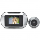 "2.8"" LCD 300KP Digital Peephole Camera Door Viewer w/ TF Slot - Black + Silver (2 x AA)"