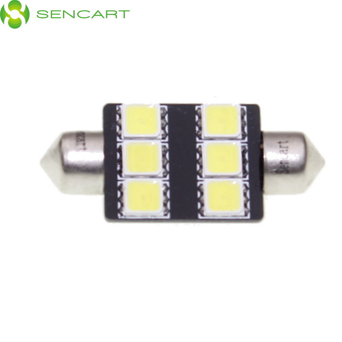 Festoon 36mm 3W 6-SMD 5060 LED 270lm White Light Car License Plate / Reading Lamp (12V)