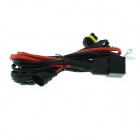 Waterproof 9005 Xenon HID Relay Wiring Harness - Black + Red (145cm)