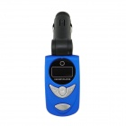 "0.8"" LCD Car MP3 Player FM Transmitter w/ Micro SD / SD / IR Remote Controller - Blue + Black"