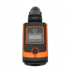 "0.8"" LCD Car MP3 Player FM Transmitter w/ Micro SD / SD / IR Remote Controller - Orange + Black"