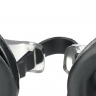 3-in-1 Standard Wide View Swim Goggles Set - Black