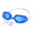 3-in-1 Standard Wide View Swim Goggles Set - Blue