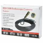 Waterproof USB 2.0 CMOS 4-LED Snake Camera Endoscope - Black + Golden (5m)