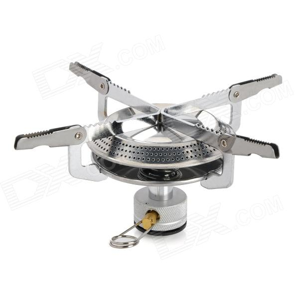 Portable Folding Outdoor Camping Gas Stove - SilverCooking Stove And Hardware<br>Quantity:Material:Form  ColorGoldenPacking List<br>