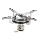 Portable Folding Outdoor Camping Gas Stove - Silver