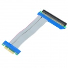 PCI-E Flexible x4 to x16 Riser Extension Cable Card - Grey + Blue (15cm)