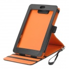 Protective 360 Degree Rotating PU Leather Case w/ Strap for Google Nexus 7 - Black + Orange