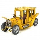Creative Classic Car Style Metal Display Model - Yellow
