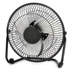 JD-618 8&quot; 3-Blade Metal Cooling Fan - Black (AC100~240V / 2-Flat-Pin Plug)