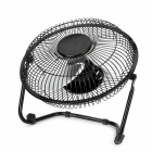 "JD-618 8"" 3-Blade Metal Cooling Fan - Black (AC100~240V / 2-Flat-Pin Plug)"