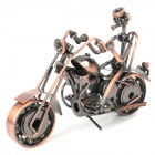 Creative Handcraft Harley Style Iron Motorcycle Display Model - Bronze