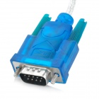 USB Male to RS232 Male Serial Cable - Blue (77cm)