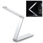 USB Rechargeable Portable Folding 3-Mode White 18-LED Desk Lamp Table Light - Silver