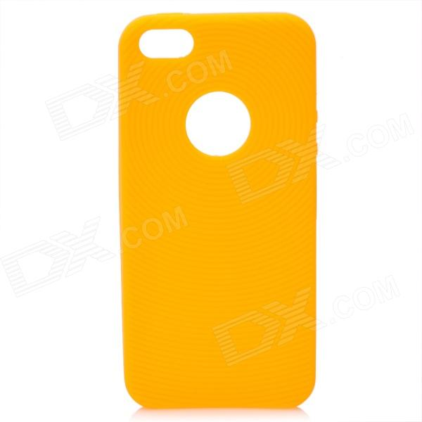 Circle Style Protective Soft Silicone Back Case for Iphone 5 - Yellow protective silicone soft back case cover for iphone 5 white