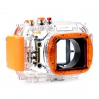 Meikon-22 Professional 40m Waterproof Camera Case for Nikon J1 (10mm Lens) - Transparent + Orange