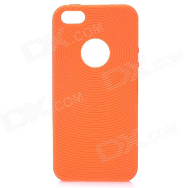 protective soft silicone back case for ipod touch 5 orange Circle Style Protective Soft Silicone Back Case for Iphone 5 - Orange