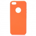 Circle Style Protective Soft Silicone Back Case for Iphone 5 - Orange