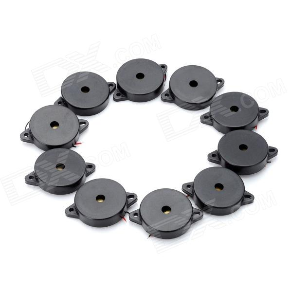 Фото DIY QSR-3510B Piezo Buzzer - Black (10 PCS) new safurance 200w 12v loud speaker car horn siren warning alarm stainless steel home security safety