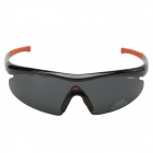 CARSHIRO Polarized Resin Lens Motorcycle Sunglasses - Black