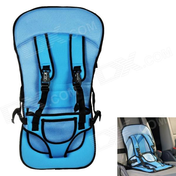 Multi-function Car Safety Harness Seat Cover Cushion - Blue