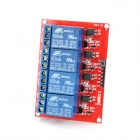 4-Channel 24V Relay Module Board for Arduino - Red