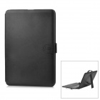 "Protective PU Leather Case w/ USB Wired Keyboard / Stand / Stylus for 10"" Tablet - Black"