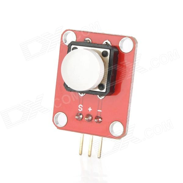 OPENJUMPER OJ-XM1119 Button Module w/ Cap for Arduino (Works with Official Arduino Boards) base shield sensor i o port expansion board red works with arduino official boards