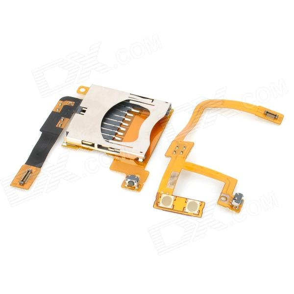 Replacement SD Card Slot Holder + Volume Flex Cable Ribbon for DSiLL / DSiXL replacement sd card slot holder flex cable ribbon for nintendo dsi golden silver