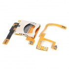 Replacement SD Card Slot Holder + Volume Flex Cable Ribbon for DSiLL / DSiXL
