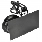 Violinist Style Iron Ashtray - Black