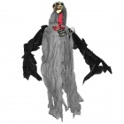 Sound Activated Flying Reaper Skull w/ Red LED Eyes - Grey + Black (3 x AA)