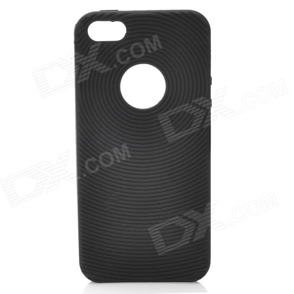 Circle Style Protective Soft Silicone Back Case for Iphone 5 - Black protective silicone soft back case cover for iphone 5 white