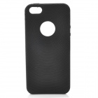 Circle Style Protective Soft Silicone Back Case for Iphone 5 - Black