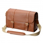 Universal Retro PU Leather Shoulder Bag for DSLR / iPad / Tablet - Brown