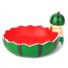Little Soldier Eating Big Watermelon Style Ashtray - Green + Red + Black + White