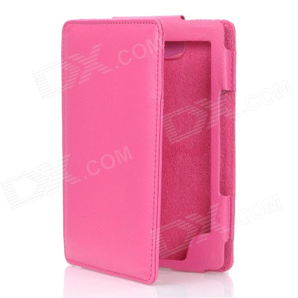 Protective Flip-Open PU Leather Case for Kindle 4 - Pink