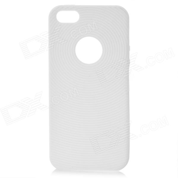 Circle Style Protective Soft Silicone Back Case for Iphone 5 - White protective silicone soft back case cover for iphone 5 white