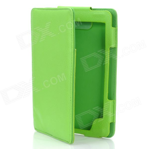 Protective Flip-Open PU Leather Case for Kindle 4 - Green