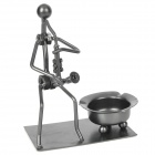 Creative Saxophonist Style Iron Ashtray - Deep Grey