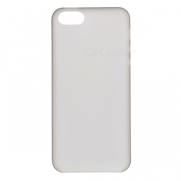 Protective Frosted Plastic Back Case for Iphone 5 - Grey
