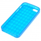 Rhombus Pattern Protective TPU Case for Iphone 5 - Translucent Blue